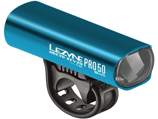 Lezyne Hecto Drive Pro 50 Cykellygter StVZO Y11, blue/glossy/white